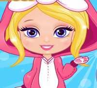 Barbie Çocuk Kostümü Tasarla Oyna