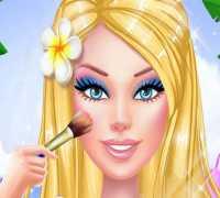 Barbie Plaj Makyajı Oyna