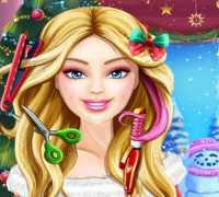 Barbie Yılbaşı Saç Modelleri Oyna