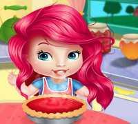 Bebek Ariel Kek Pişir Oyna