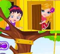 Bebek Barbie Ağaç Ev Oyna