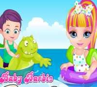 Bebek Barbie Plaj Yaramazlığı Oyna