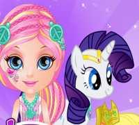 Bebek Barbie Pony Süsle Oyna