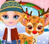 Bebek Barbie Rudolf Yardım Oyna
