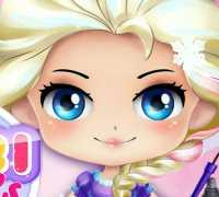 Bebek Elsa Frozen Makyaj Oyna