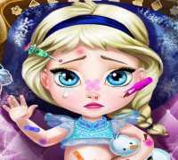 Bebek Elsa Frozen Yaralandı Oyna