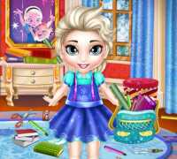 Bebek Elsa Okul Hazırlığı Oyna
