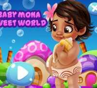 Bebek Moana Şeker Diyarı Oyna