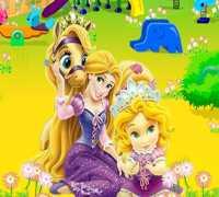 Bebek Rapunzel Bahçe Dekoru Oyna