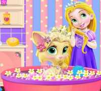 Bebek Rapunzel Kedi Bakımı Oyna