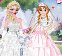 Elsa Ve Anna Evleniyor Oyna