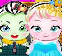 Elsa Ve Frankie Bebekleri Oyna