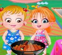 Hazel Bebek Bahçe Partisi Oyna