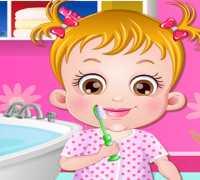 Hazel Bebek Dişlerini Fırçalıyor Oyna