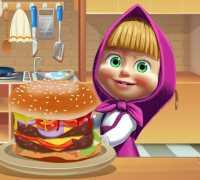 Masha Büyük Hamburger Oyna