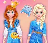 Prenseslerin Şık #denim Kıyafetleri Oyna