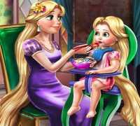 Rapunzel Ve Bebeği Oyna