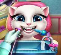 Talking Angela Gerçek Diş Bakımı Oyna